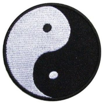 Yin Yang Patch (Su002) Logo for Dry Clothing ,Jacket ,Shirt ,Cap Embroidered Iron on Patch ,By Sugar99shop