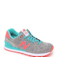 New Balance 574 Glitch Collection Sneakers - Womens Shoes - Grey