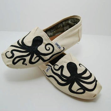 Octopus Custom TOMS Shoes by KellismCo on Etsy
