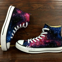 WEN Original Design Galaxy Shoes Galaxy Converse Customize Hand Painted Shoes,Painted Shoes Custom Converse All Star Canvas Shoes