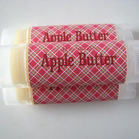 Apple Butter Flavor - Lip Balm - Natural - Vegan - Fall Fruit Flavor - No sweeteners - Bath and Beauty  -Home and Living