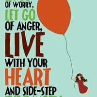 Poster / Positive Quote Print Let Go 11x14 Art by ParadaCreations