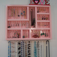 Wall Jewelry Display Case, Jewelry Organizer