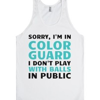 I'm In Color Guard-Unisex White Tank