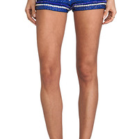 Karina Grimaldi Syria Beaded Shorts in Blue