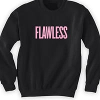 Beyonce Flawless Crewneck New Album Beyonce Knowles Funny crewneck sweatshirt flawless noodle women's men's clothing yonce woke up like dis