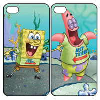 Spongebob and Patrick Best FriendSamsung Galaxy S3 S4 S5 Note 3 4 , iPhone 4 4S 5 5s 5c 6 Plus , iPod Touch 4 5 , HTC One M7 M8 ,LG G2 G3 Couple Case