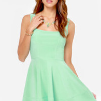 Home Before Daylight Mint Green Dress