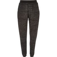 River Island Womens Dark grey neppy light joggers