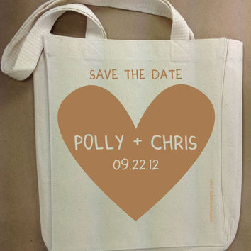 Save The Date Totes by PamelaFugateDesigns