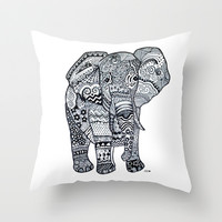Elephant Throw Pillow by Starr Shaver | Society6