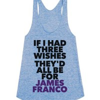 Wish For James Franco-Female Athletic Blue Tank