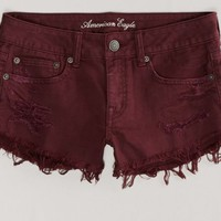 AEO 's Destroyed Festival Shortie (Raspberry)