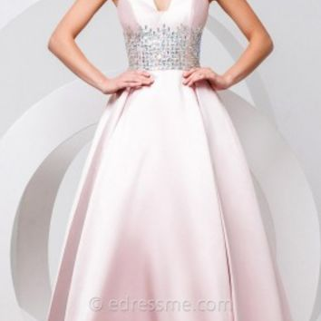 Beaded Geometric Prom Gown by Tony Bowls Paris