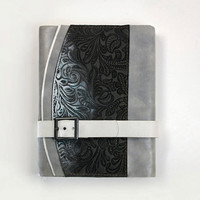 Leather Journal - Secret Hand Bound Notebook - It's not Always Black and White