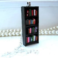 Extra Tall Bookshelf Necklace by Coryographies