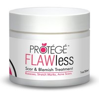 THE BEST Scar Gel - FLAWless - Natural Blemish Removal Treatment + For Scars Including Keloids + Acne Scars + Surgery Scars + Also Reduces Redness & Rosacea & Spider Veins + Results After 6 Weeks + Concentrated Formula (1 oz)
