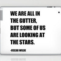 Oscar Wilde Stars Quote Print (Black & White) Laptop & iPad Skin by Ink the Print | Society6