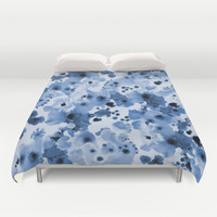 Indigo Splash - painterly blue artist summer watercolor cute cell phone case Duvet Cover by CharlotteWinter