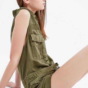 Ecote Croft Playsuit in Green - Urban Outfitters