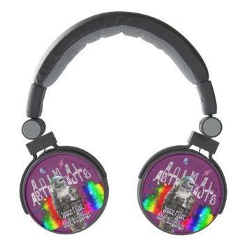 Rainbow Universe Bird Animal Astronaut Headphones