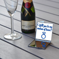 Will you be my matron of honor? | Matron of honor gift | Bridesmaid gift ideas | Bridesmaid proposal | Unique bridal party gifts