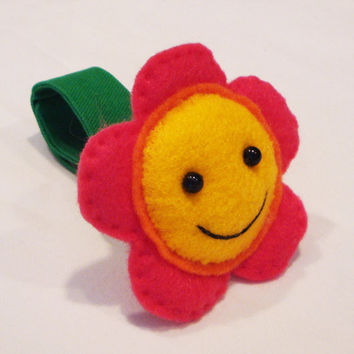 Stroller and Car Seat Toy - Pink Flower Baby Toy for Baby Car Seats or Strollers