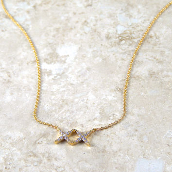 Two X Necklace