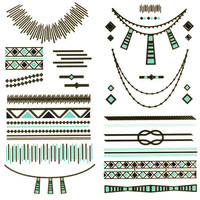Metallic Southwestern Temporary Tattoos Gold Combo One Size For Women 25396207901