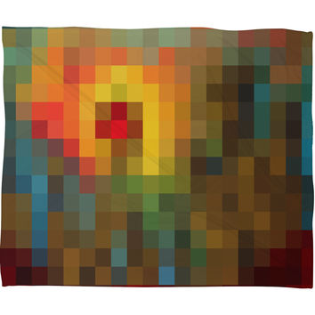 Madart Inc. Glorious Colors Fleece Throw Blanket