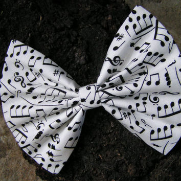 Big music bow, large hair bow, hairbow, Hair Bow for women, Hair bows for girls, bows for Teens, big bow