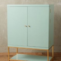 Lacquered Bar Cabinet by Anthropologie