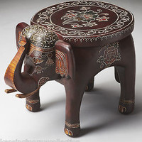 ELEPHANT ACCENT TABLE - PLANT STAND - ACCENT FURNITURE - FREE SHIPPING*