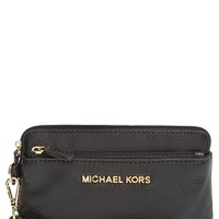 Women's MICHAEL Michael Kors 'Medium Bedford' Leather Wristlet