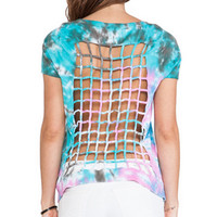 Knotted Back Spiral Tie-Dye Tee by Chaser