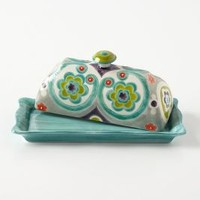 Okuno Butter Dish by Anthropologie Multi Butter Dish Kitchen