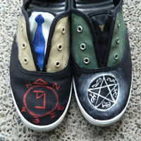Supernatural hand painted canvas shoes