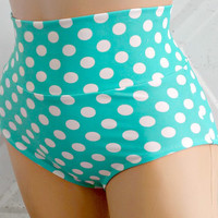 the Katy Taylor high Waist Polka dot swim bottoms or panties