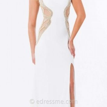Sheer Side Panel Prom Gown by Tony Bowls Paris
