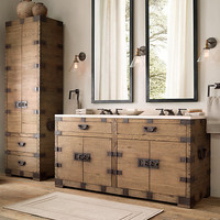 Heirloom Silver-Chest Tall Bath Cabinet