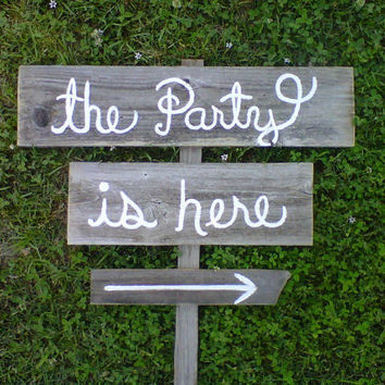 YOUR WORDING Fun Wedding OR Party Signs Hand by TRUECONNECTION