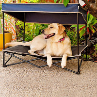 Quik™ Shade Medium Outdoor Instant Pet Shade with Elevated Mesh Bed in Navy