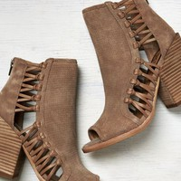 AEO Women's Dv By Dolce Vita Malak Peep Toe Suede Booties (Taupe)