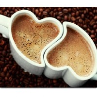 Love Coffee Hearts Lovers Mug Cup Mouse Pads Customized Made to Order Support Ready 9 7/8 Inch (250mm) X 7 7/8 Inch (200mm) X 1/16 Inch (2mm) High Quality Eco Friendly Cloth with Neoprene Rubber MSD Mouse Pad Desktop Mousepad Laptop Mousepads Comfortable C