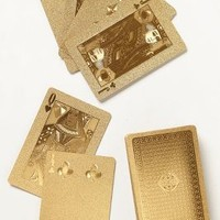Metallic Playing Cards by Anthropologie Gold One Size Gifts