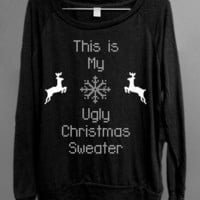 Ugly Christmas Sweater - This is my ugly Christmas Sweater - Black