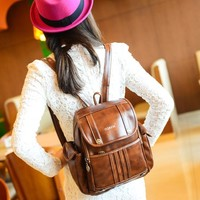 MapleClan Retro Style Distressed Man & Woman Backpack