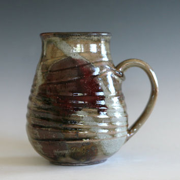 EXTRA LARGE pottery mug, 30 oz, unique coffee mug, Ceramic Mug, tea mug coffee cup handthrown ceramic stoneware, ceramics and pottery