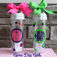 Preppy Personalized Monogram Tervis water by GameDayGirlsandGifts