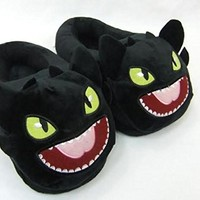 """How to Train your Dragon Toothless Plush Slipper approx 11"""" long"""